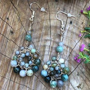 🌻Artisan Jasper Woven Earrings